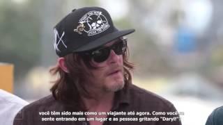 Entrevista com atores que interpretam Rick, gleen, negan, daryl, e possível spoilers, sobre quem não morrera no primeiro episódio da 7 temporada de The Walking Dead..