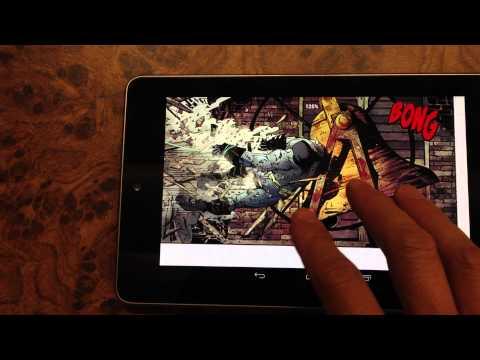 0 Reading Digital Comics on Nexus 7 Tablet