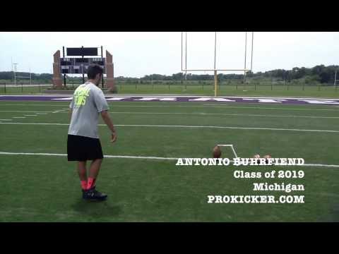 Antonio Buhrfied, Prokicker.com Kicker, Class of 2019