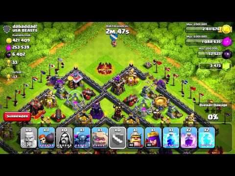 Clash of Clans - Quest to 4000 Trophies #2: Deceptive Wall Breakers?