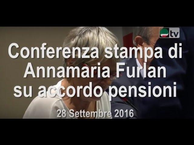Conferenza stampa di Annamaria Furlan su accordo pensioni