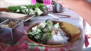 local cuisine laos noodle @ thai - laos market 2017 , laos food@ vientiane laos 2017 / laos food 2017 asian street food on ...