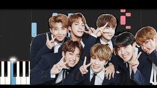 Video BTS - DIMPLE (Piano Tutorial) MP3, 3GP, MP4, WEBM, AVI, FLV April 2018