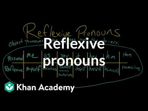 Reflexive pronouns video khan academy solutioingenieria Gallery