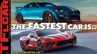 2020 Ford Mustang Shelby GT500 vs New Chevy Corvette C8   Which One Is Better? by The Fast Lane Car