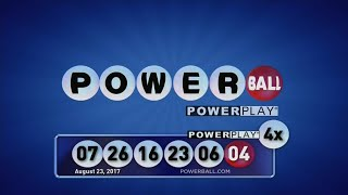 Numbers are: 07, 26, 16, 23, 06 and Powerball 04.