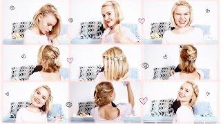 прическа на 1 сентября для негустых волос