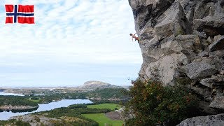 Climbing in Flatanger by Mani the Monkey
