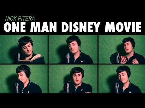 """One Man Disney Movie"" Nick Pitera Disney Medley Music Video"