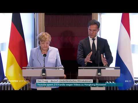 Deutsch-NiederlГndisches Klimakabinett Pressekonferenz mit Angela Merkel und Mark Rutte am 22.08.19