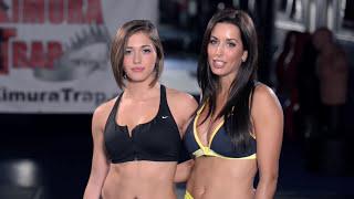 Piękne zawodniczki MMA pokazują jak wykonać dźwignię