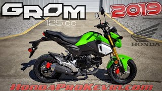 2. 2019 Honda Grom 125 Walk-around 'Incredible Green' | Mini Bike / Motorcycle (miniMOTO / MSX125)