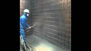 On site footage of Sprayed Concrete Basement Wall Spraying - Contech UK