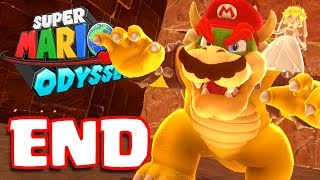 Super Mario Odyssey ENDING | BOWSER FINAL BOSS BATTLE & SECRET! | (Super Mario Odyssey Switch)