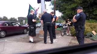 Auburn (WA) United States  city photo : Cops approach open carry patriot, Auburn WA July 4