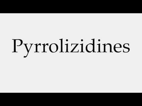 How to Pronounce Pyrrolizidines