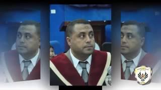 مناقشة رسالة ماجستير الباحث محمد معروف