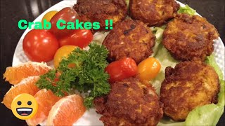 Recipe Below. Help Meso reach 20,000 subscribers by sharing this video in your circles and wherever you are active on social media and with family and friends. This is a delicious recipe made from 100 % real crab meat. For a cost savings you can make this same recipe with half real crab meat and half imitation crab. Of course, there will be a slight difference but still very, very good.Meso's Crab Cakes2 ½ lbs. Crab Meat2 tbsp. Sriracha¾ Cups Mayonnaise 1 Tbsp. Lemon Juice2 Tbsp. Old Bay2 Eggs 2 Tbsp. Spicy Brown Mustard15 Saltine Cracker CrumbledMix all ingredients together making sure not to break up the crab meat. Then get them into hot oil to fry. Place the oven crab cakes on parchment paper and bake at 375 degree for 25 minutes.