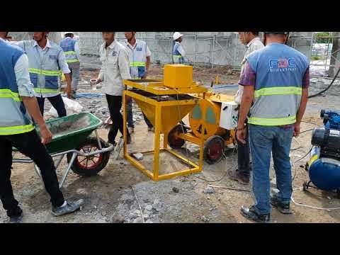 Bất ngờ với máy phun vữa trát tường sx tại Việt Nam F6-NPL - FDC-COTECCONS  0915911533 npl