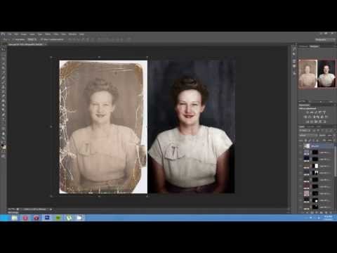 Timelapse of the Colorization and Restoration of a Damaged