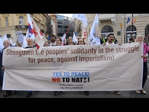 World Peace Council protests against NATO summit in Warsaw
