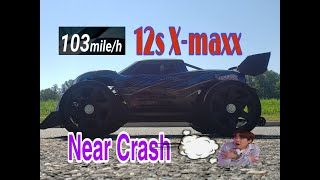 X-maxx 12s 103 mph speed-run