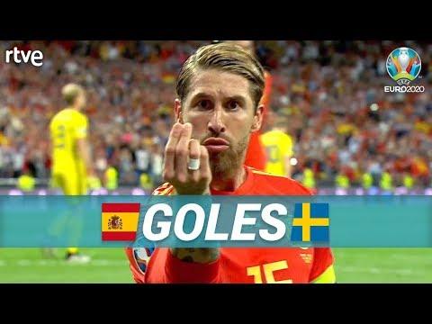 GOLES España 3-0 Suecia  Clasificatorio Eurocopa 2020