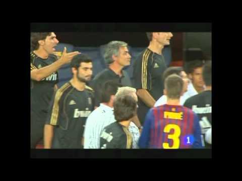 Jose Mourinho Vs Tito Vilanova - Supercopa 2011 (видео)