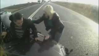 Crazy driver crashes – LUCKY TO BE ALIVE