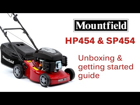 Mountfield HP454 & SP454 unboxing and getting started guide (видео)