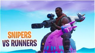 SNIPERS VS RUNNERS!! *MINI-GAME MED 154* - Fortnite på Svenska