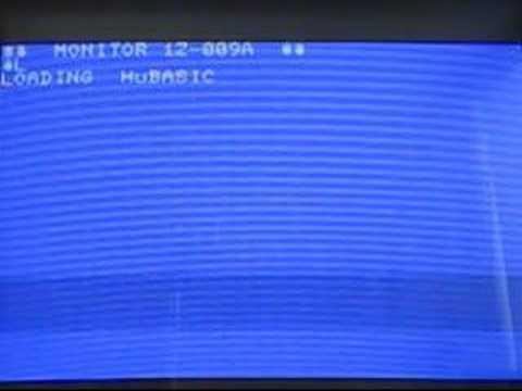 SHARP MZ-700 loads HuBASIC