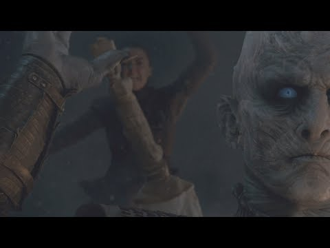 Arya Kills The Night King ~ Brightened Version