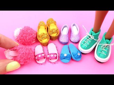 6 zapatos DIY para muñeca Barbie