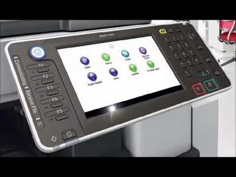 Prezentare video fotocopiator Ricoh Aficio MPC3002AD