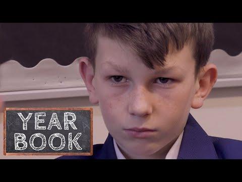 Brothers Fight in School Corridor   Yearbook