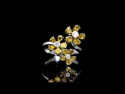 女裝18K白/黃金鑽石戒指