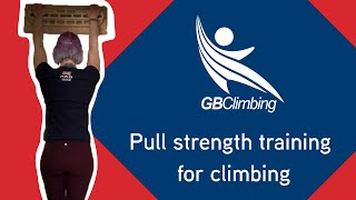 Pull Strength Variation Training with GB Climbing Coach Rachel Carr by teamBMC