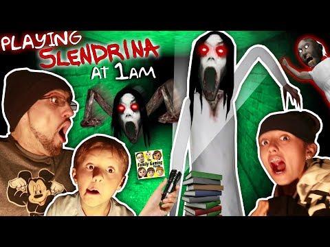 SLENDRINA @ 1am! GURKEY! Granny's Grandaughter in the Cellar Basement! (FGTEEV @ Night) (видео)