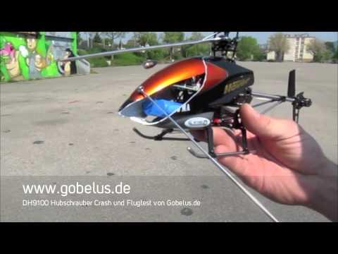 Double Horse DH 9100 Single Speed RC Heli Crash Test  Flug von Gobelus.de