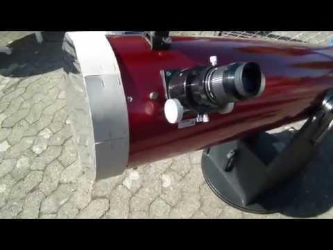 Wie richtet man ein Teleskop ganz einfach auf die Sonne aus
