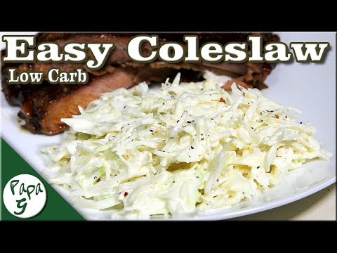 Low carb diet - Quick and Easy Coleslaw – Low Carb Keto Salad Recipe