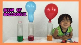 Balloons Blow Up with Baking Soda and Vinegar Science Experiment for kids