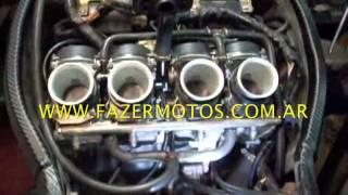 7. Sincronizando carburadores Honda CBR 919 despues de hacerle el motor completo