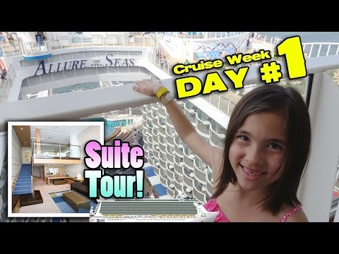 TWO STORY ROOM TOUR!! Royal Caribbean ALLURE OF THE SEAS Crown Loft Suite! [CRUISE WEEK DAY 1] (видео)