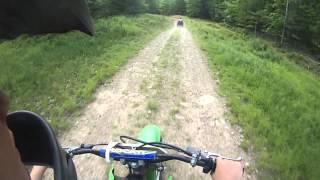 8. Kawasaki klx 125- Trail riding