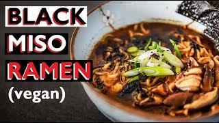 VEGAN RAMEN RECIPE   HOW TO MAKE JAPANESE NOODLE BROTH   ビーガンラーメン
