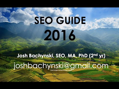 The COMPLETE ** 2016 ** SEO Guide - Basic to Advanced ...