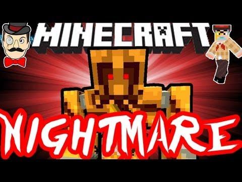 Minecraft nightmare golem scary monster