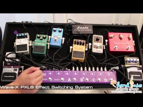 Wave x - Review Wave-X PXL8 Effect Switching System by www.ctmusicshop.com รายละเอียดเพิ่มเติม http://www.ctmusicshop.com/store/product/view/Wave_X_PXL8_Effect_Switch...